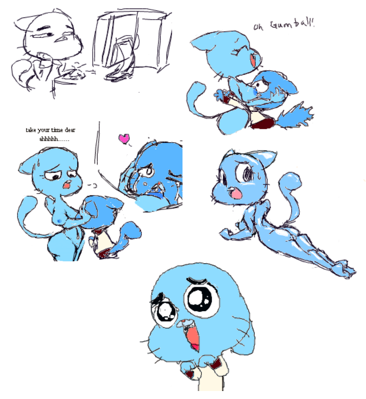 amazing naked of the gumball world Nyarko san another crawling chaos