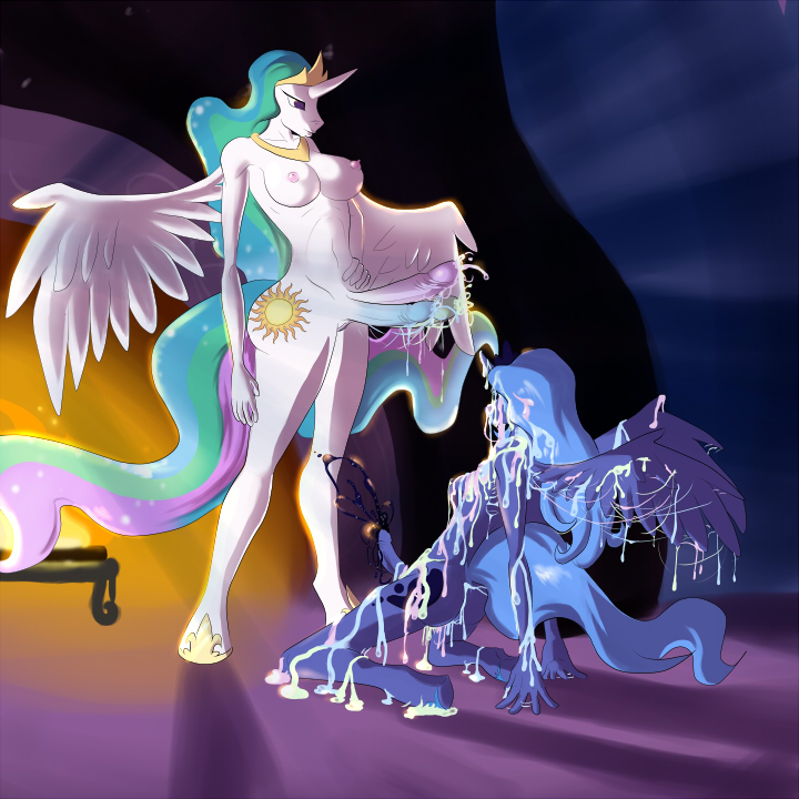 princess and celestia luna Wii fit trainer and villager